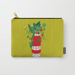 Red midcentury Bay vase Carry-All Pouch