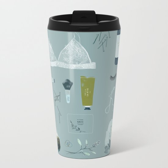 Evening Routine Metal Travel Mug
