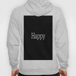 HAPPY! Black & White Hoody