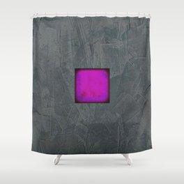 Slate Gray Lavender Fuschia Modern Art Shower Curtain