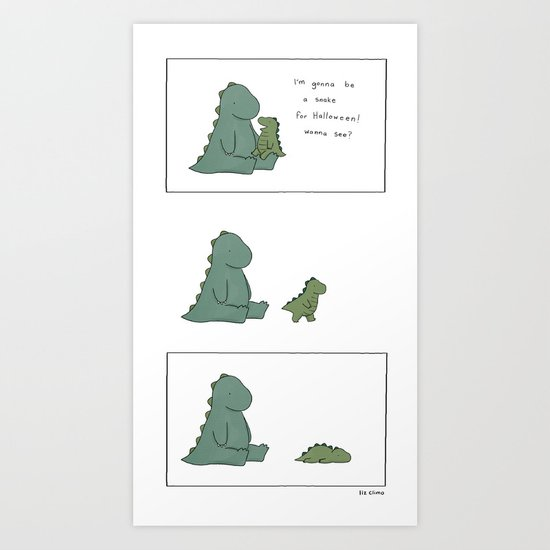 Snake Monster Art Print