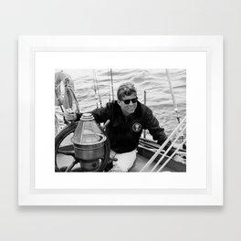 President John Kennedy Sailing Framed Art Print
