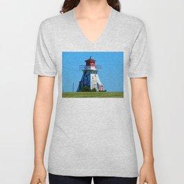 Lighthouse in Disrepair Unisex V-Neck