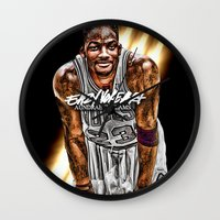 fresh prince Wall Clocks featuring Jordan SMITH (THINK FRESH PRINCE) by EAZYYOKEART