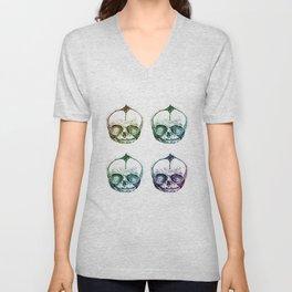 4 Fetal Skulls Unisex V-Neck