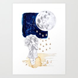 by moonlight Art Print