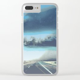 Summer Squall on the Highway, Central New Mexico, 2013 Clear iPhone Case