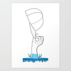 Saved from the waters Art Print