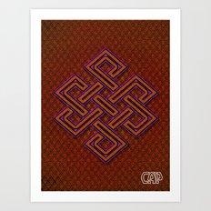 CELTIX #1.3 Vibrant Psychedelic Celtic Optical Illusion Design Art Print
