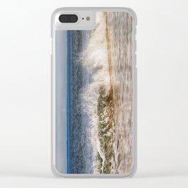 Beach Wave Clear iPhone Case