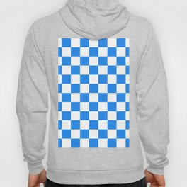 Checkered - White and Dodger Blue Hoody