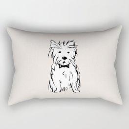 Milo the dog Rectangular Pillow