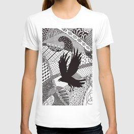 Black Crow Flying T-shirt