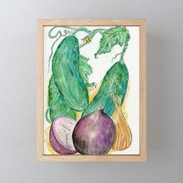 Onions and Cukes Framed Mini Art Print