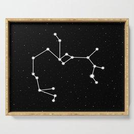 Sagittarius Star Sign Night Sky Serving Tray