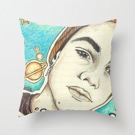 Grayson Dolan galaxy background Throw Pillow
