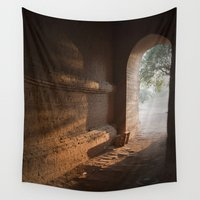 pagan Wall Tapestries featuring Morning Light by Maria Heyens