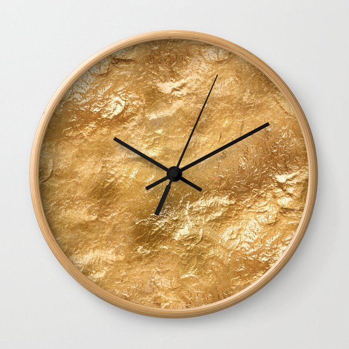 Golden foil Wall Clock