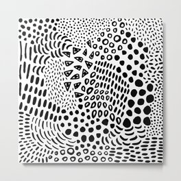 Summer Candy Black + White Metal Print