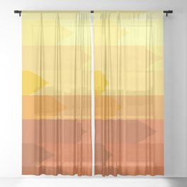 Arrow pattern Sheer Curtain