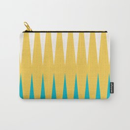 Geometrical retro colors modern print Carry-All Pouch