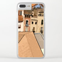 Spain Landscape Clear iPhone Case