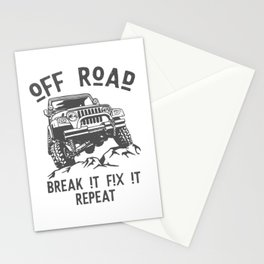 Off Road break it fix it repeat Stationery Cards