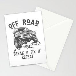 Off Road break it fix it repeat Stationery Cards