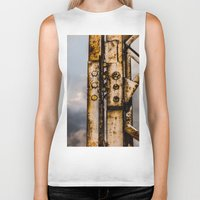 industrial Biker Tanks featuring Industrial landscape by vientocuatro