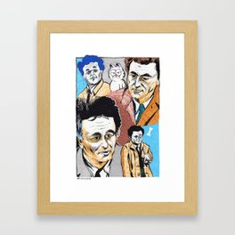 Columbos and Friend Framed Art Print