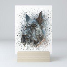 Watercolor Scottish Terrier  Mini Art Print