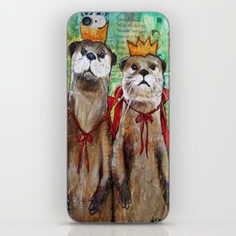 Royal Otters iPhone Skin