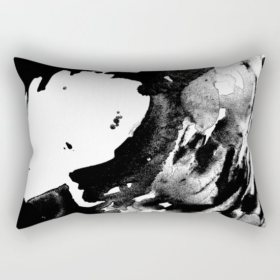 Drilling for that black gold in our oceans, black wave Rectangular Pillow