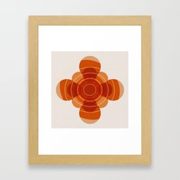 Earthy Red Scandinavian Floral Design Framed Art Print