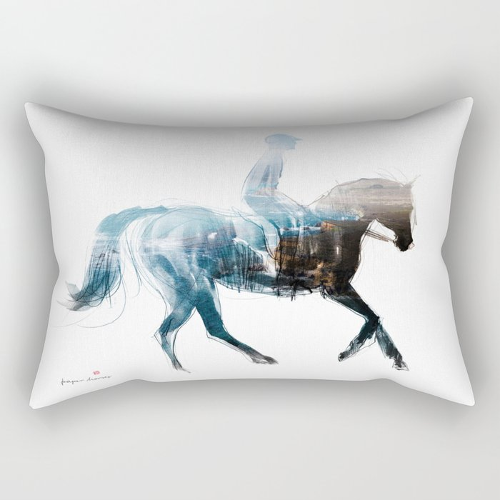 Horse (Canter on the beach) Rectangular Pillow