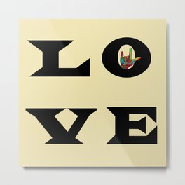 LOVE Typography Metal Print