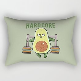 Hardcore Avocado Rectangular Pillow