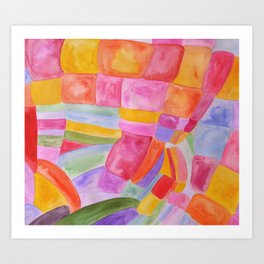 Candy Bunch Art Print