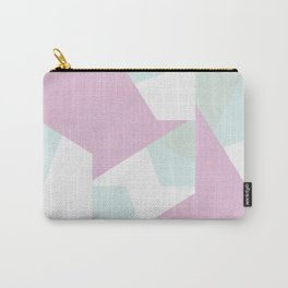 Purple and blue geometric pattern Carry-All Pouch