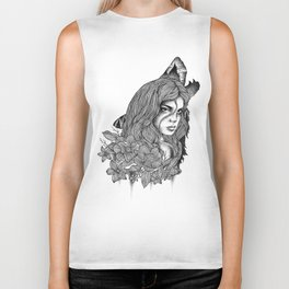 IN THE COMPANY OF WOLVES Biker Tank