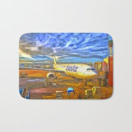Iran Air Airbus A330 Pop Art Bath Mat