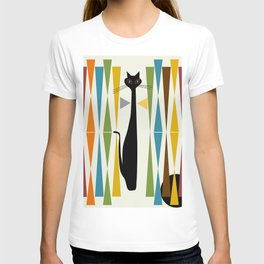 Mid-Century Modern Art Cat 2 T-Shirt