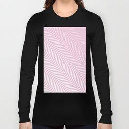 Whiskers Light Pink & White #308 Long Sleeve T-shirt