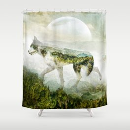 WOLF MOUNTAIN Shower Curtain