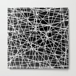 Abstract White Lines No. 2 Metal Print