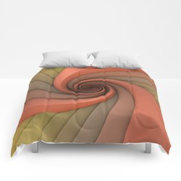 Spiral in Earth Tones Comforters