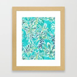 KAILUA CHILL Tropical Hawaiian Floral Framed Art Print