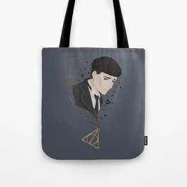 Credence Barebone + Deathly Hallows necklace Tote Bag