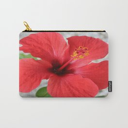 A Stunning Scarlet Hibiscus Tropical Flower Carry-All Pouch