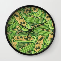 Celery & Peanut Butter Wall Clock